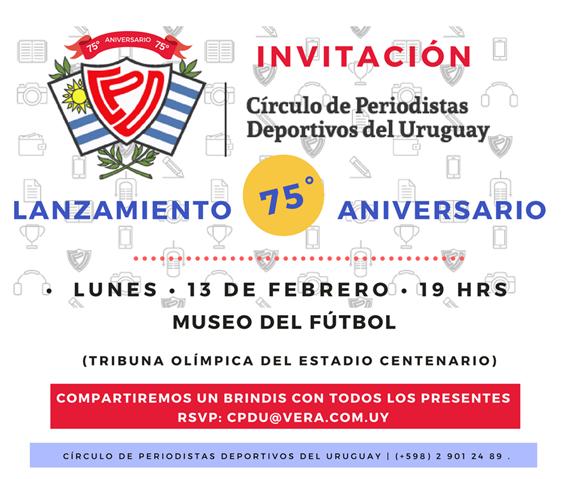 Invitación 75° Aniversario CPDU